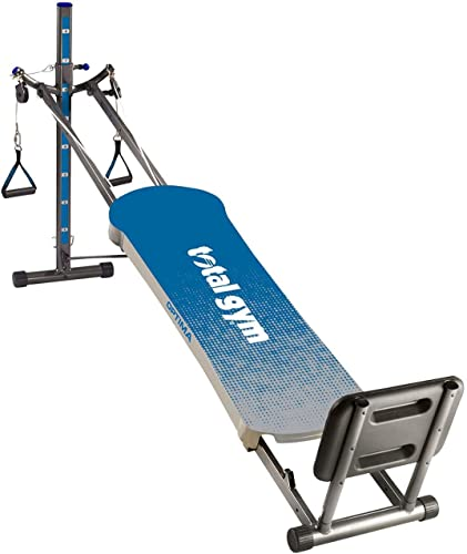 Total Gym Optima Full Body Fitness Workout for Home and Gyms – Inclined Folding Exercise Machine