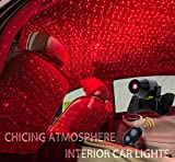 CHICING USB 100mw Laser Atmosphere Ambient Star led Glow The interiors Multiple Modes Lights for car/Home/Party (Red-Light)