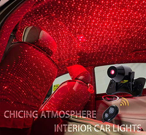 CHICING USB 100mw Laser Atmosphere Ambient Star led Glow The interiors Multiple Modes Lights for car/Home/Party (Red-Light) (Best Car Ambient Lighting)