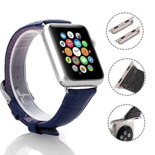 3 opinioni per Cinturino di lusso in vera pelle di coccodrillo per Apple Watch, iWatch 38mm,