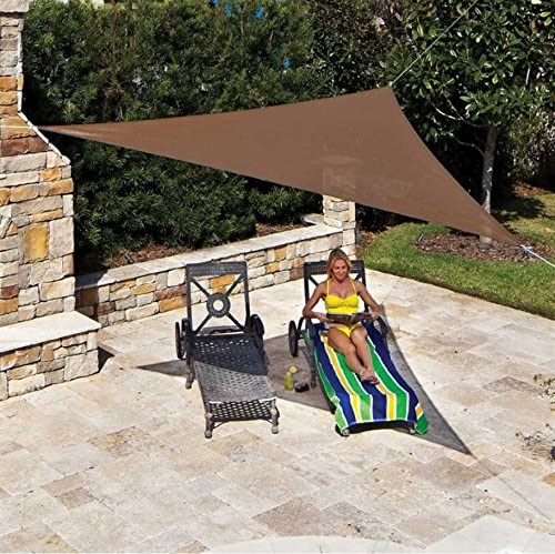 Coolaroo Shade Sail, Triangle Ready to Hang Shade Sail, 16 5 , Mocha