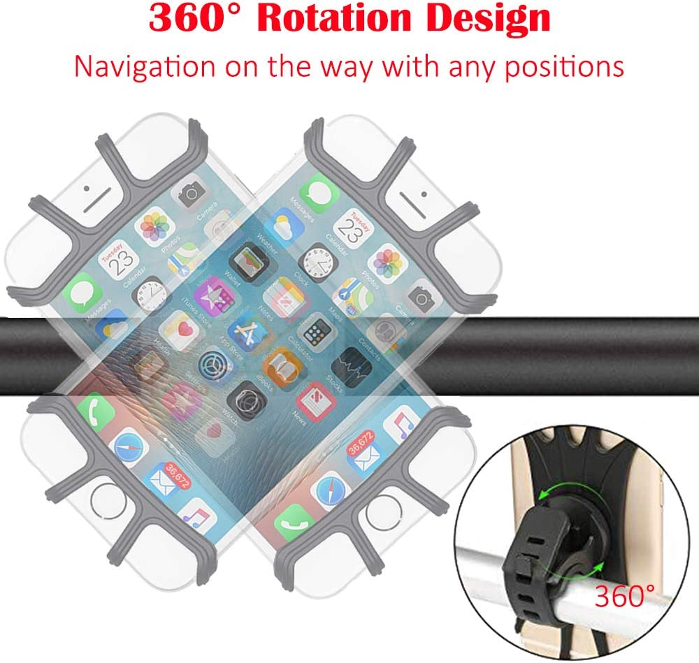 Bicycle Bike Mount Handlebar Phone Holder Grip 360° For Nokia 6.2