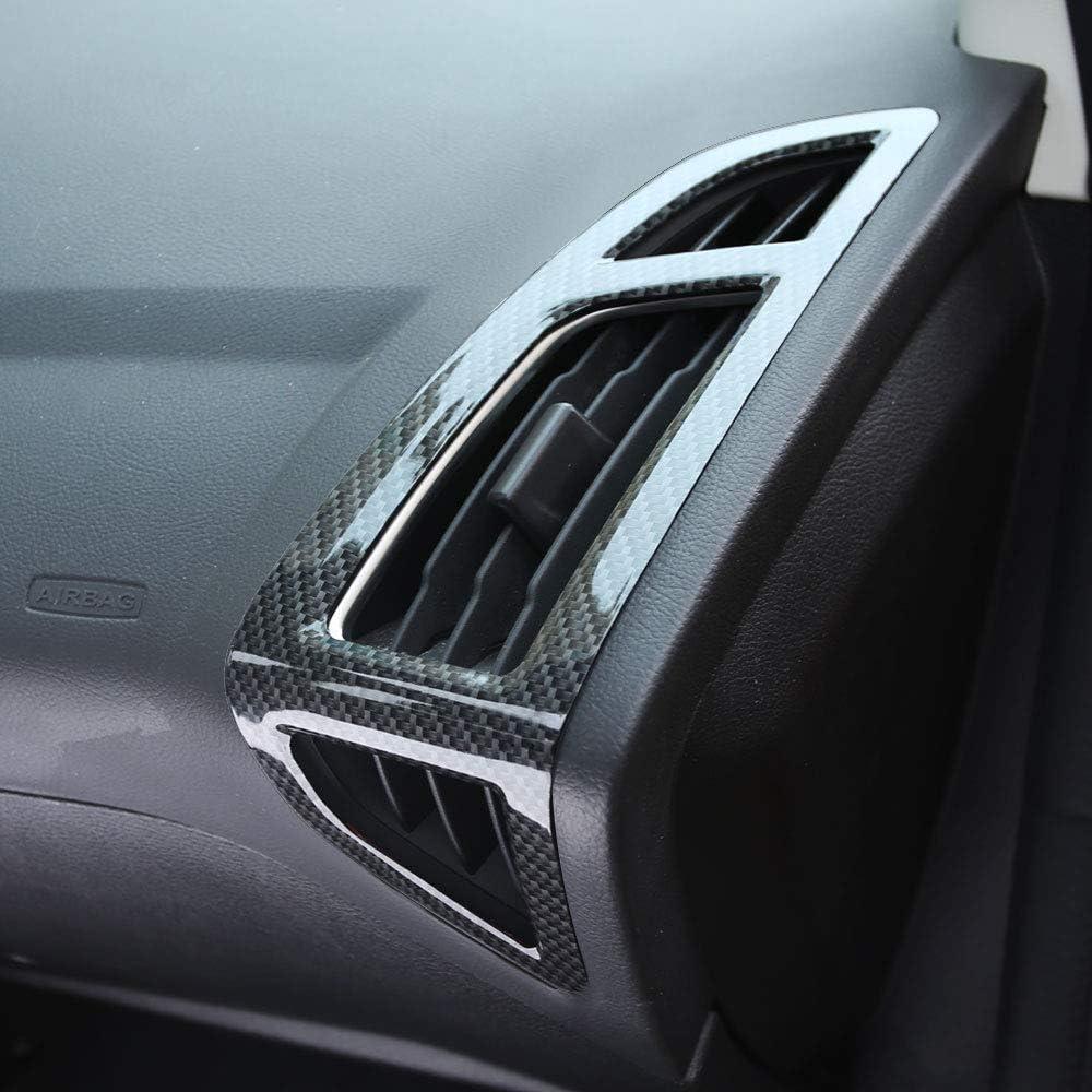 HKPKYK Dekoration der Autoklimaanlage,F/ür Ford Focus 3 4 MK3 MK4 2012-2016 2017 2018 Auto Innenraum Front Entl/üftung Verkleidung Klimaanlage Dekoration Aufkleber