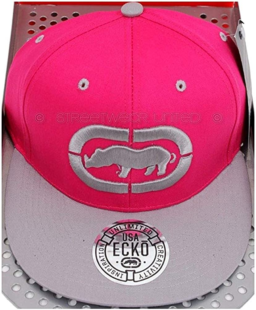 Ecko Unltd 3D Rhino Logo Visera Plana Snapback Gorra - Rosa/Gris ...