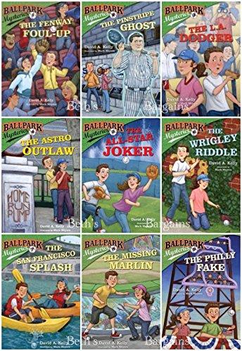 (9 Books: Ballpark Mysteries - Fenway Foul Up, Pinstripe Ghost, LA Dodger, Astro Outlaw, All Star Joker, Wrigley Riddle, San Francisco Splash, Missing Marlin, Philly Fake)
