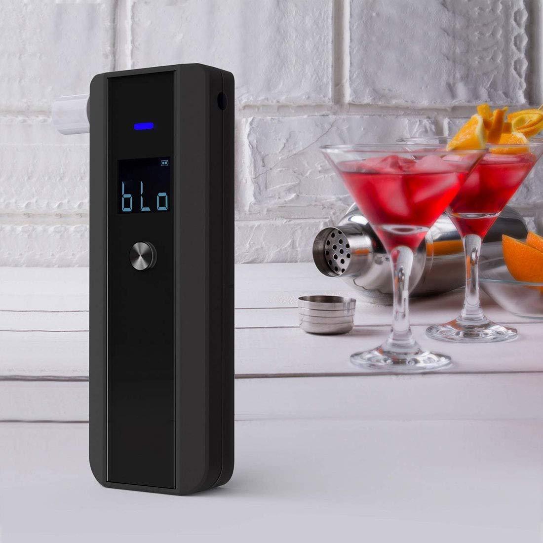 Precisi/ón de Nivel Profesional DWLXSH alcohol/ímetro Aliento port/átil probador del Alcohol for Uso Personal y Profesional