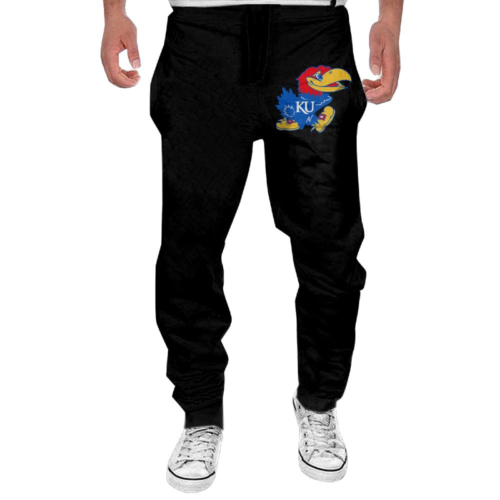 Fashion Sweat Pants Men's Kansas Jayhawks Basketball Jogger Sweatpants