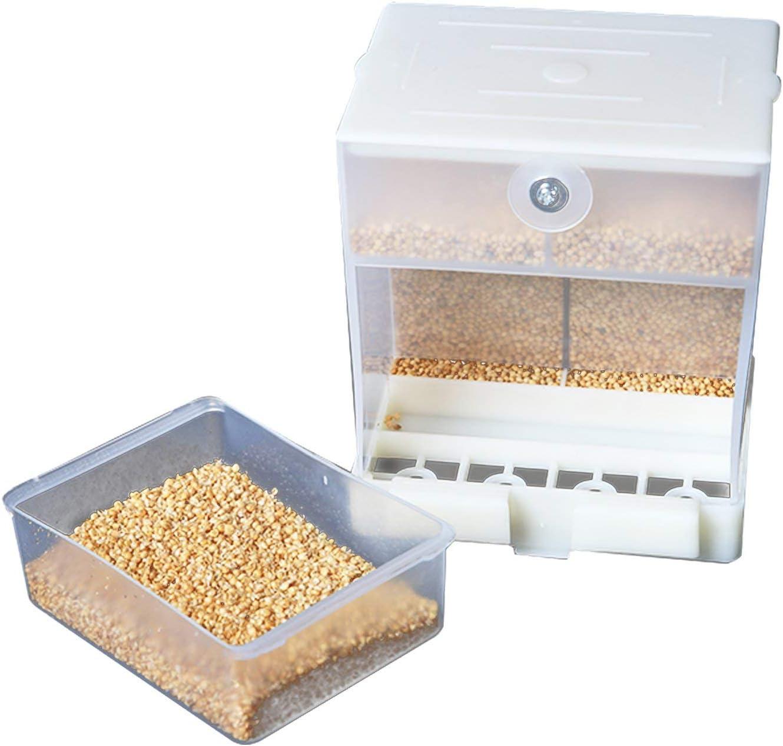 Abree Comedero Pajaros Automático, Comederos para Pajaros Alimentador de Pájaros Contenedor de Alimentos para Periquito Canario Cockatiel