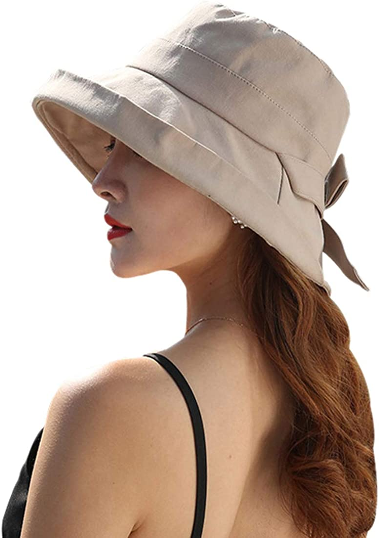 Yixda Elegant Damen Sonnenhut Faltbarer Sommerhut Breite Krempe Strand Hut