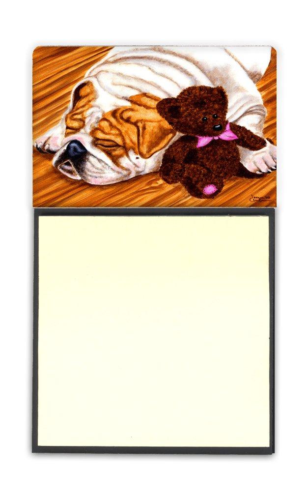 BB2313SN Multicolor Carolines Treasures Halloween Scary English Bulldog White Sticky Note Holder