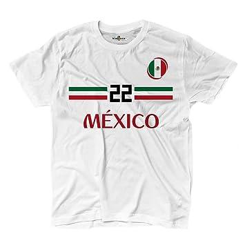 KiarenzaFD Camiseta Camiseta Fútbol 2 Selección Lozano Mexico 22 Streetwear Hombre, KTS01921-S-