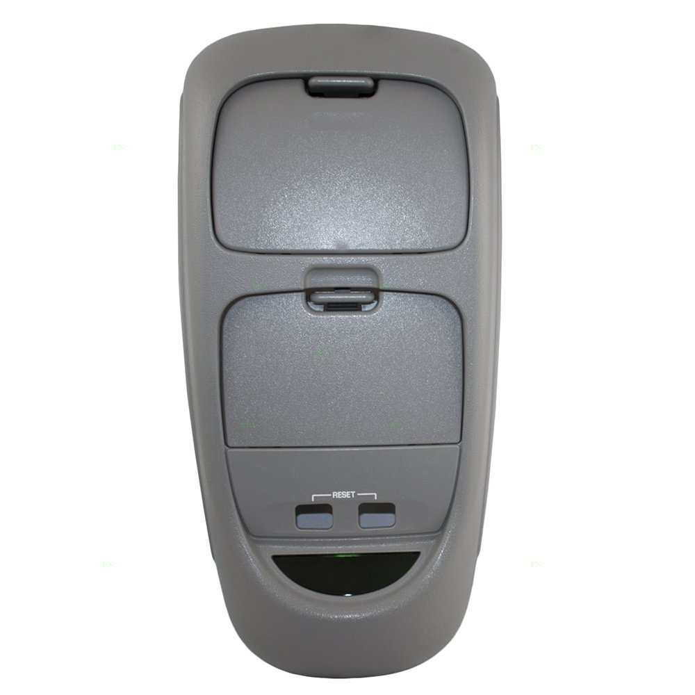 Overhead Roof Ceiling Console Flint Gray Replacement for Ford Super Duty Pickup Truck w/out Sunroof 2C3Z 25519A70 AAC