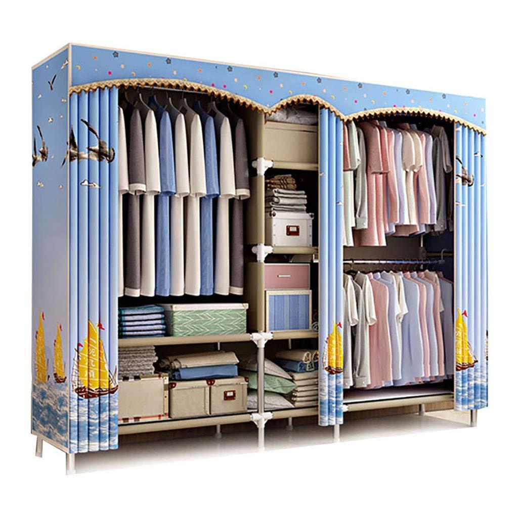 HSBAIS 布製ワードローブクローゼット、キャビネットワードローブ主催者および保管場所、服装ワードローブの組織ハンギング棚、取り外し可能、大容量,D_203x45x172cm B07JNF5VCC D 203x45x172cm