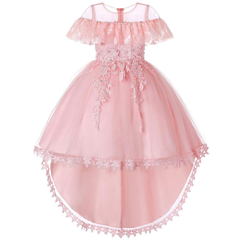 Kids Baby Flower Girls' Party Sequins Dress Formal Bridesmaid Dress Age 6M-8Y