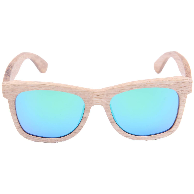 LY4U de madera para hombre y gafas de sol para mujer, gafas Vintage, gafas de sol flotantes con caja de bambú