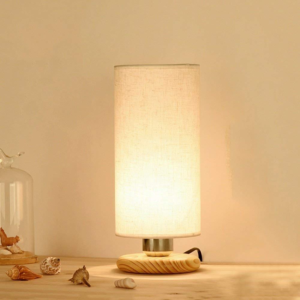 RBB Lámpara de Mesa de Madera Creativa, lámpara de Sala cabecera Dormitorio Sala de de Estudio decoración de la Sala pequeña lámpara de Escritorio E27 Interfaz de Fuente de luz 5bd94e