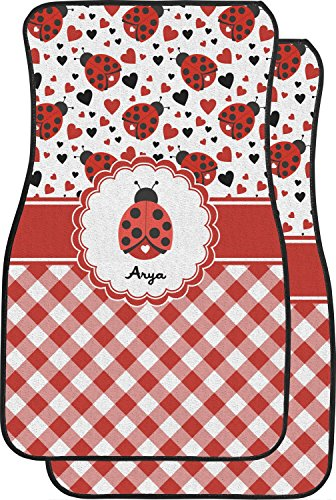 Price comparison product image RNK Shops Ladybugs & Gingham Car Floor Mats (Front Seat) (Personalized)