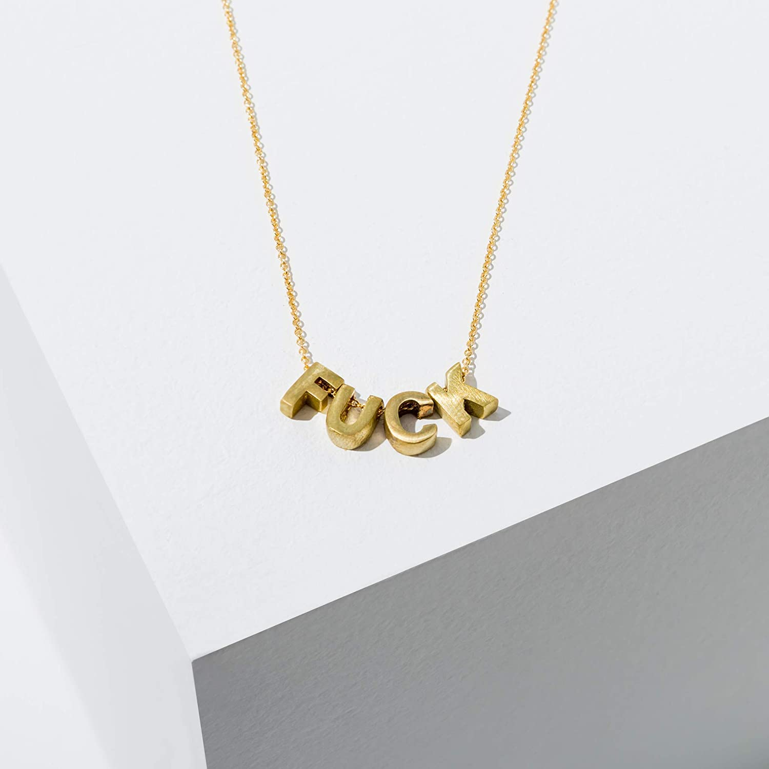 Cuss Word Jewelry Mature Adult Necklace Profanity Jewelry Explicit Fuck It Necklace