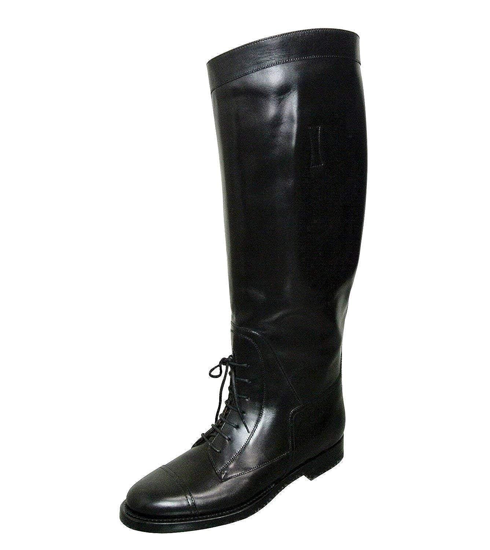 269c6f77a Amazon.com: Gucci Women's Black Leather Lace up Boulanger Equestrian Boots  297460 (36.5 G / 6.5 US): Shoes