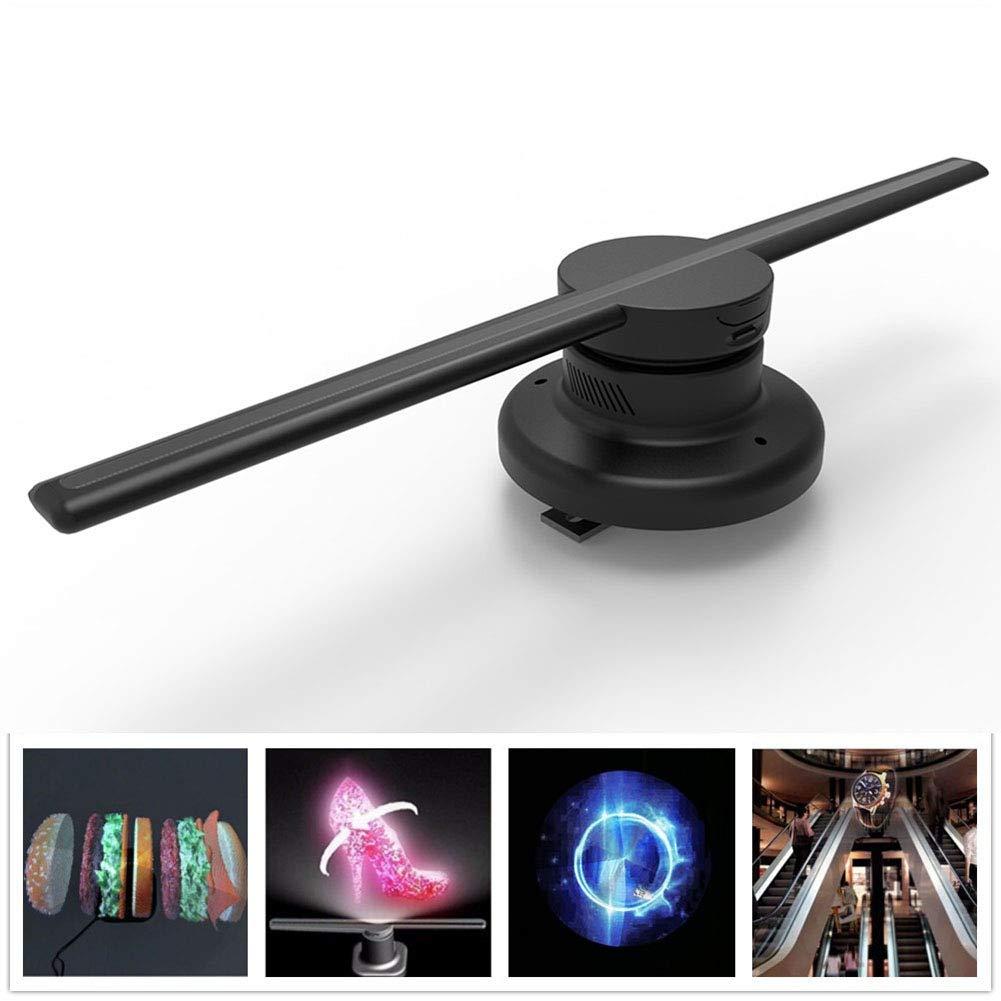 Elegantstunning 85-265 V 42 cm WiFi 320 LEDs 3D Hologramm-Projektor Hologramm-Player LED-Display Ventilator Werbung Licht APP Steuerung, U.S. regulations