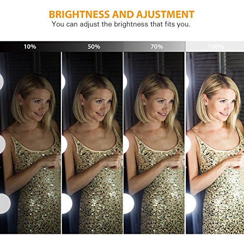 [2018 UPGRADED] Hollywood Style LED Vanity Mirror Lights Kit, Auledio Makeup light with 10 Dimmable Bulbs and Touch Dimmer for Makeup Vanity Table Set in Dressing Room (Mirror Not Include) by Auledio (Image #5)