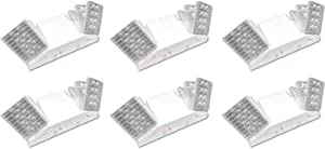 LED Hardwire Emergency Light with Adjustable Heads, Backup Battery (6 Pack)