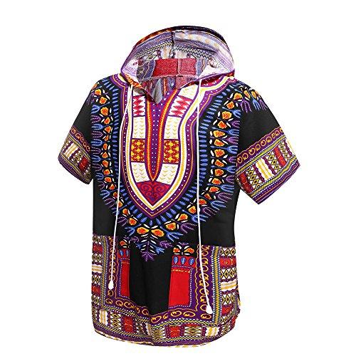 Unisexe Afrique Tous À Taille Orang Traditionnelle Purple Dashiki Convient Par Unique Indienne Africaine Top Chemise Vêtements Black Hoodie And wHw4IRtqZ