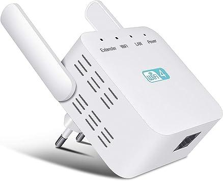 Getue Repetidor WiFi Amplificador de WiFi 300Mbps/2.4GHz WiFi Repetidor Amplificador Señal WiFi Extensor de Red WiFi Amplificador, 2 Antenas ...