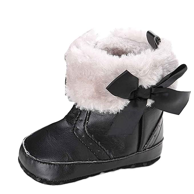 a1e7cb3d7121 Newborn Infant Toddler Baby Boys Girl Winter Snow Boots for 0-18 M Cuekondy  Bowknot