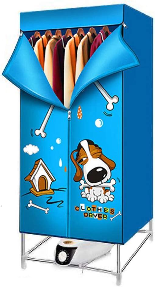 YJDQGYJ Eléctrico Secadora,Portátil Secadora de Ropa,Casa el Ahorro de Energía Alta Capacidad Secadora Eléctrica,Dormitorio Guardarropa Mecánico Clothes Dryer 180Min / azul / 2000W