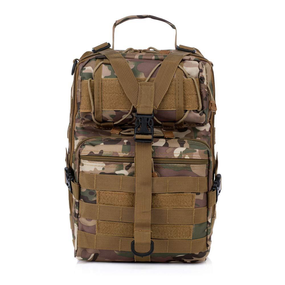LELUN Taktisches Schulter-Diagonal-Paket Outdoor Bergsteigen Radfahren Umhängetasche Army Fan Camouflage Multifunktionstasche (20L)