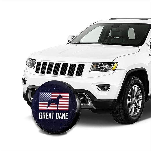 Ramwans Great Dane Spare Tire Cover for Trailer SUV Rv Jeep Truck Camper Travel Trailer Accessories