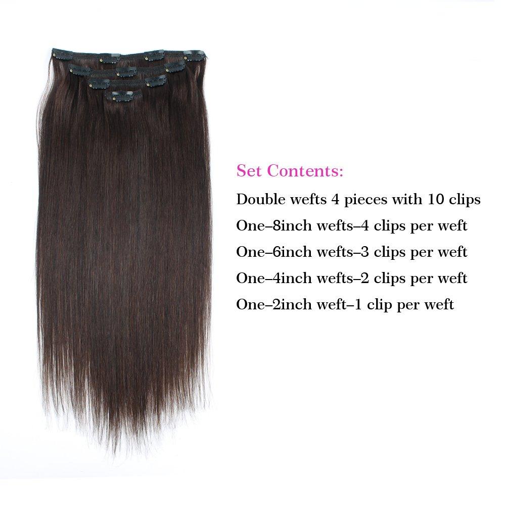 Amazon Sassina Luxy Hair Extensions Clip In Human Hair Silky