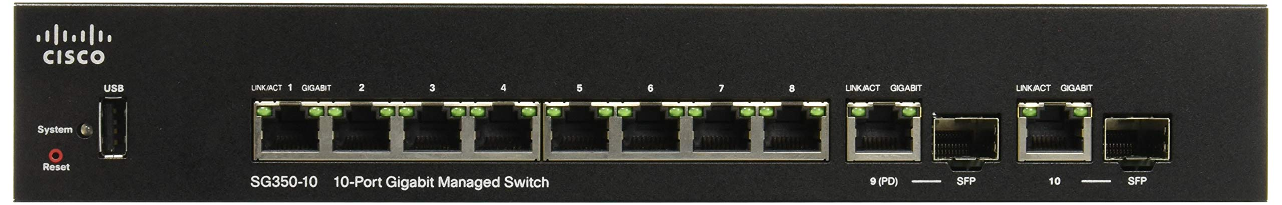CISCO SYSTEMS Sg350 10-Port Gigabit Managed Switch (SG35010K9NA) by Cisco Systems (Image #2)