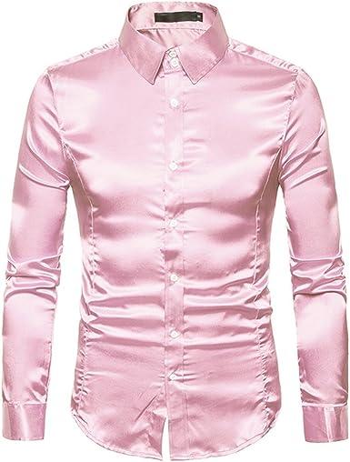 Show Time Camisas Brillantes de los Hombres, Partido metálico ...