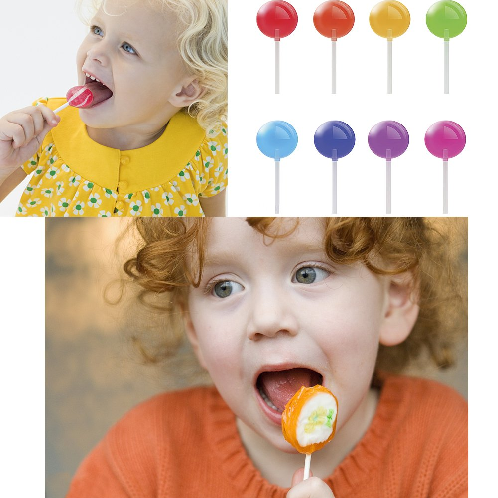 600 Pcs BPA-Free Lollipop Set Including 200 pack Lollipop treat Sticks,200 Pieces of Lollipop Parcel Bags and 200 Pieces of Wire Lines(8 Different Colors) by HaiMay (Image #7)