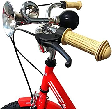 Bicycle Bike Cycling Retro Metal Air Horn Hooter Bell Bugle Trumpet Honking Bulb