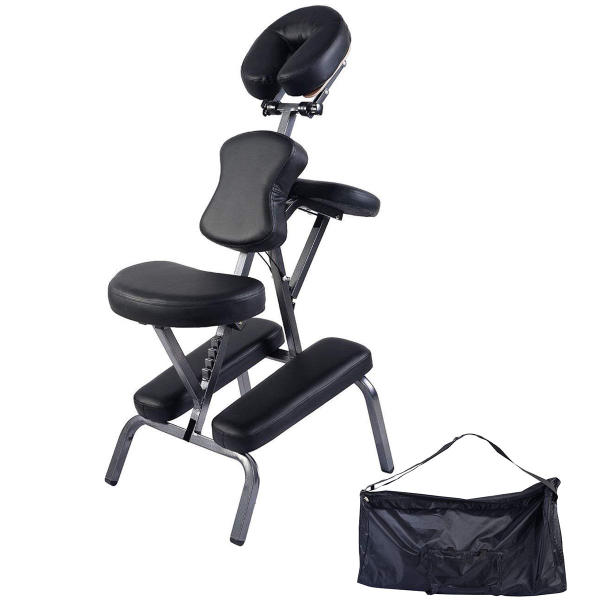 Giantex Portable Light Weight Massage Chair Travel Massage Tattoo Spa Chair w/Carrying Bag HW51339