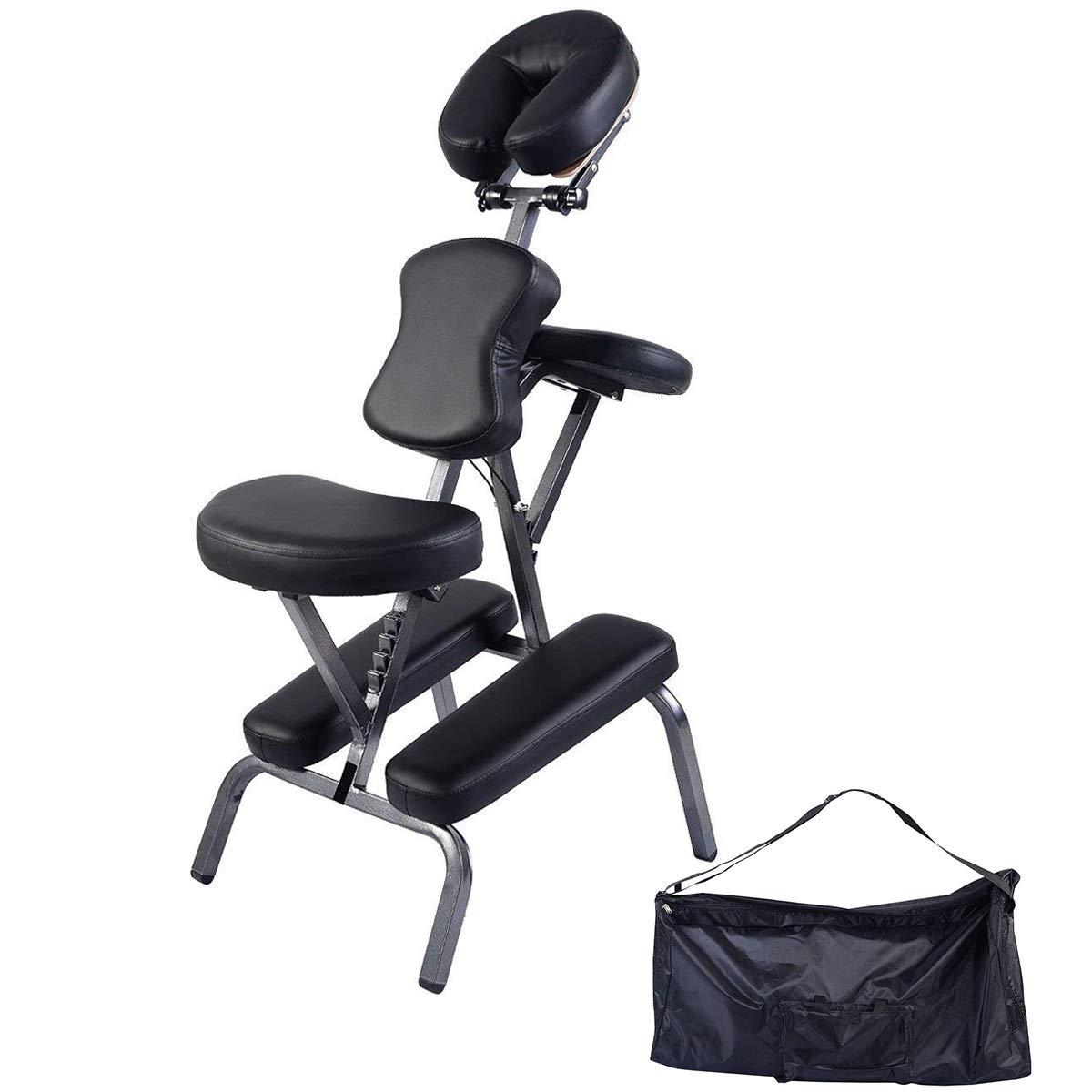 Giantex Portable Light Weight Massage Chair Travel Massage Tattoo Spa Chair w/Carrying Bag