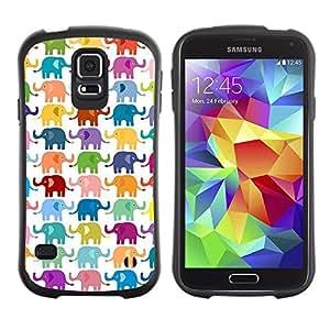 "Hypernova Slim Fit Dual Barniz Protector Caso Case Funda Para Samsung Galaxy S5 [Modelo blanco colorido Niños""]"