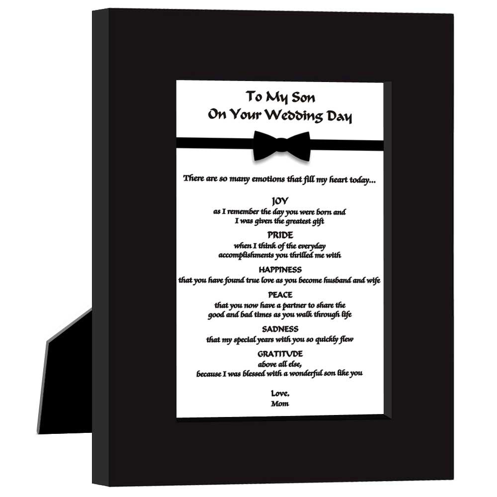 Amazon.com - Wedding Gift for Son From Mom To My Son On Your Wedding ...