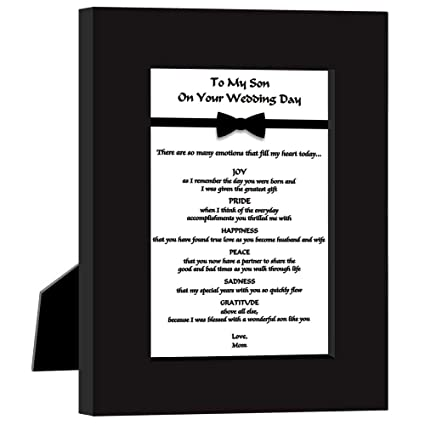 Amazon Wedding Gift For Son From Mom Sweet Poem In Frame From