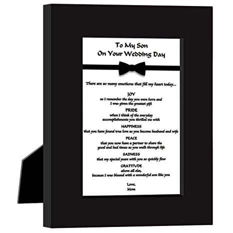 Wedding Gift for Son from Mom, Sweet Poem in Frame from Mother of The Groom