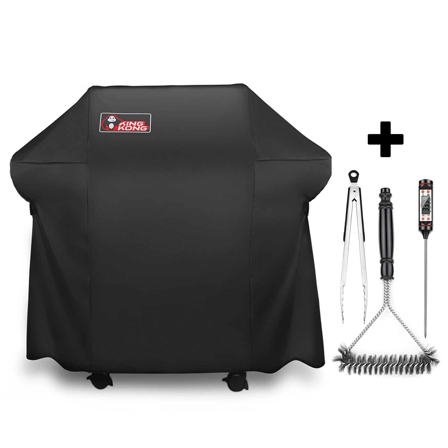 Kingkong Grill Cover 7106Cover for Weber Spirit 200 and 300 Series Gas Grill Including Grill Brush,Tongs and Thermometer