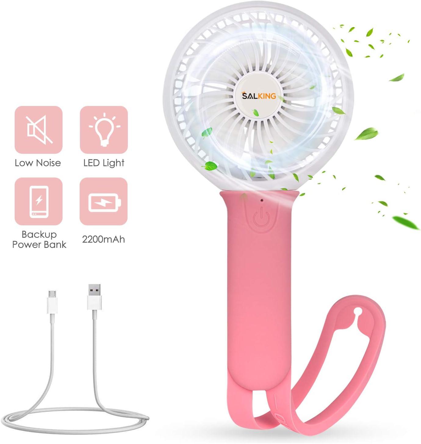 SALKING Ventilador USB,Portátil Ventilador Silencioso con Pilas ...