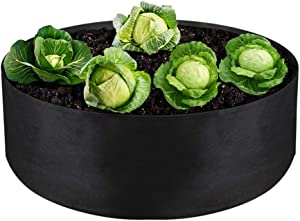 """IWNTWY 15 Gallon Large Grow Bag, Heavy Duty Fabric Round Raised Garden Bed Planter Pots for Planting Herb Flower Vegetable Potato Plants (24"""" D x 8"""" H, Black)"""