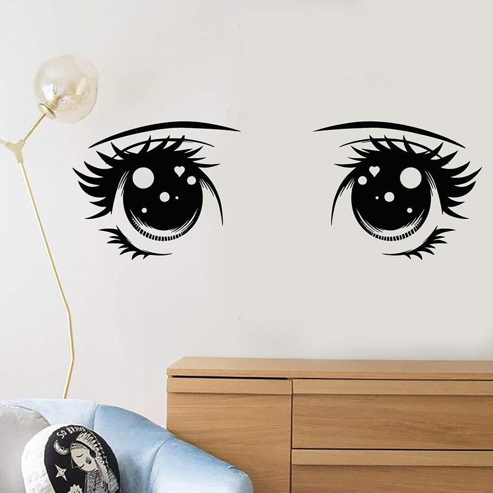 Dibujos animados chica Anime ojo grande de vinilo tatuajes de ...