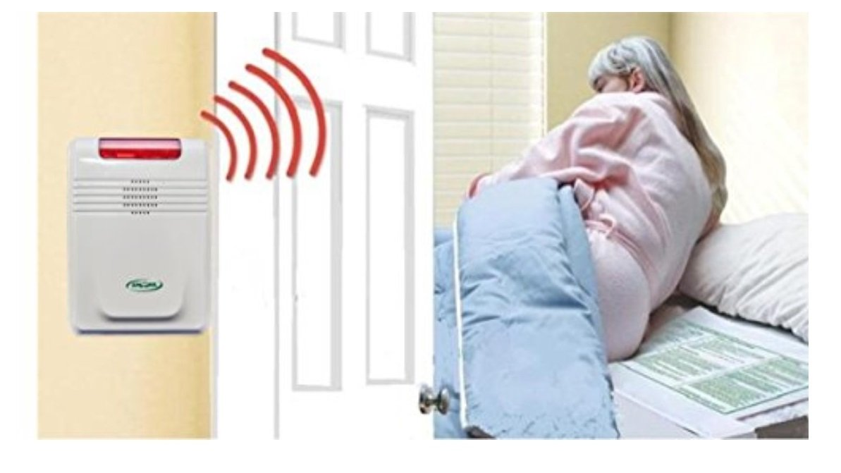 Smart Caregiver Cordless Bed Alarm with Kerr Absorbent Protector Pads