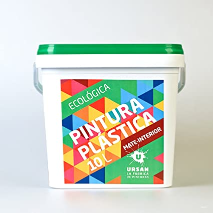 Ursan 10021000 Bricoplast pintura plástica ecológica mate interior, blanco, 10L