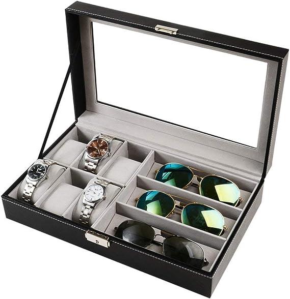 Caja para 6 relojes y gafas de sol, joyero, organizador de gafas ...